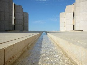 The Salk Institute, La Jolla, California, by Jim Harper.  Creative Commons Attribution-Share Alike 1.0 Generic license.